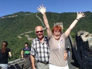 Jätteglad på kinesiska muren