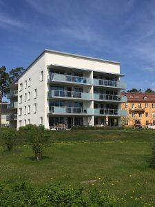Till Hägernäs Strand i Täby flyttade vi 20 januari 2016